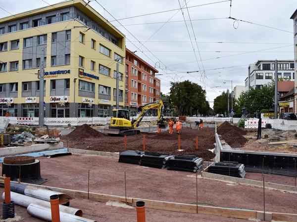 Kreuzung Leipziger Straße (Aufnahme: September 2018)