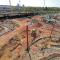 Bauarbeiten am Damaschkeplatz (Aufnahme: Peter Gercke, Ende April 2020)