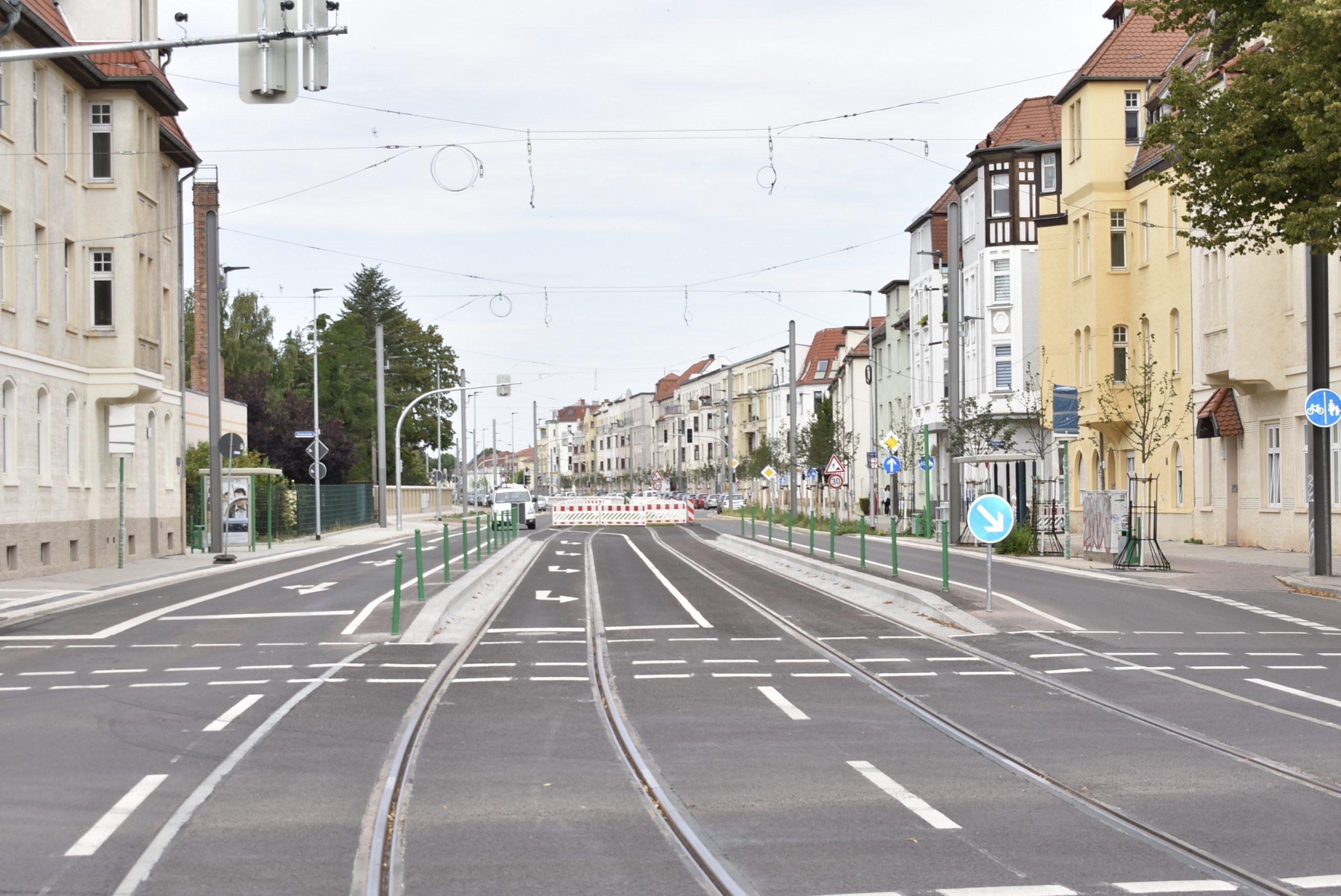 Blick in die Raiffeisenstraße