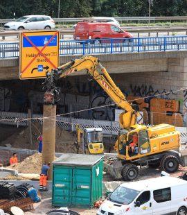 Bauarbeiten am Damaschkeplatz