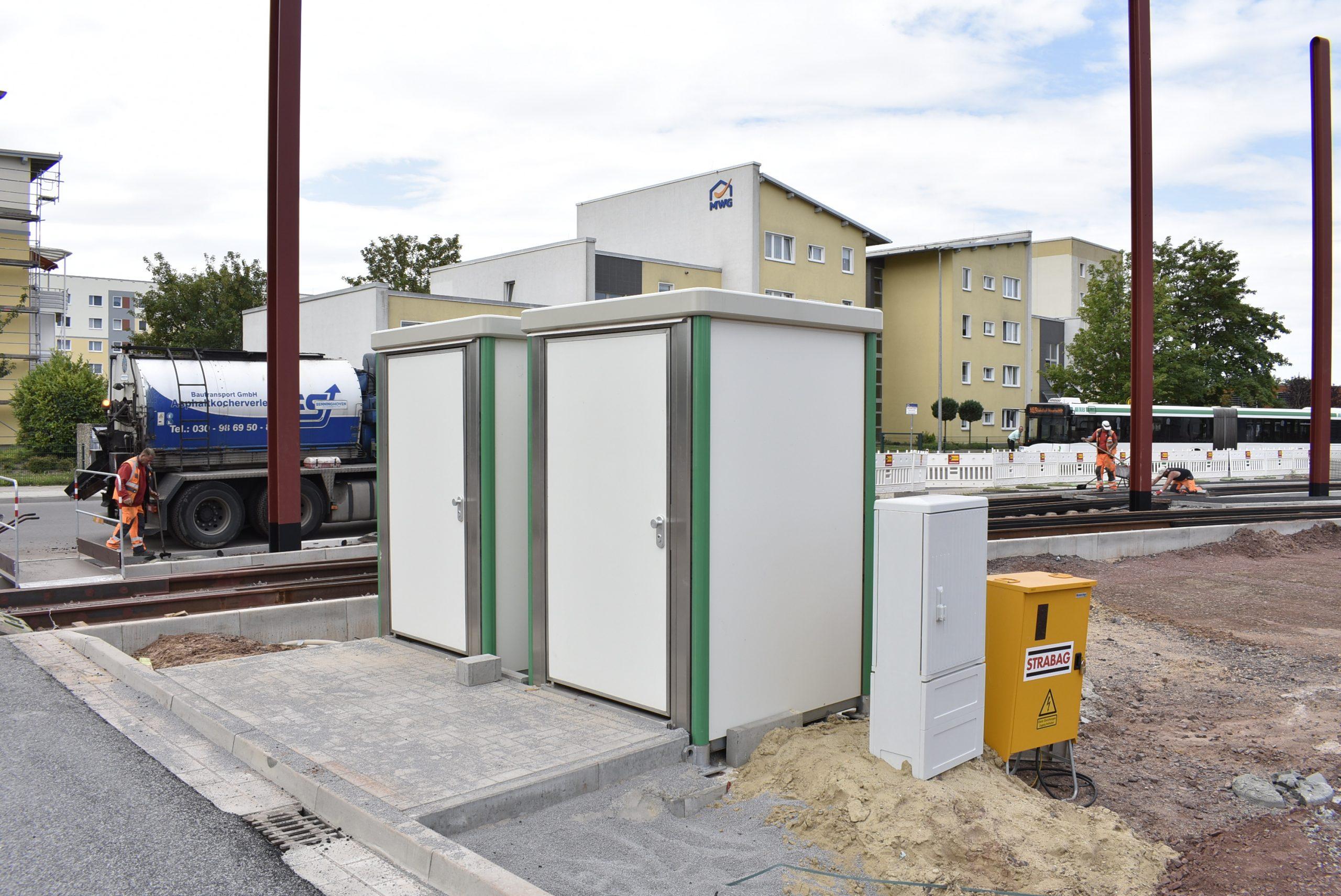 Neue Toiletten für die Fahrerinnen und Fahrer der MVB.