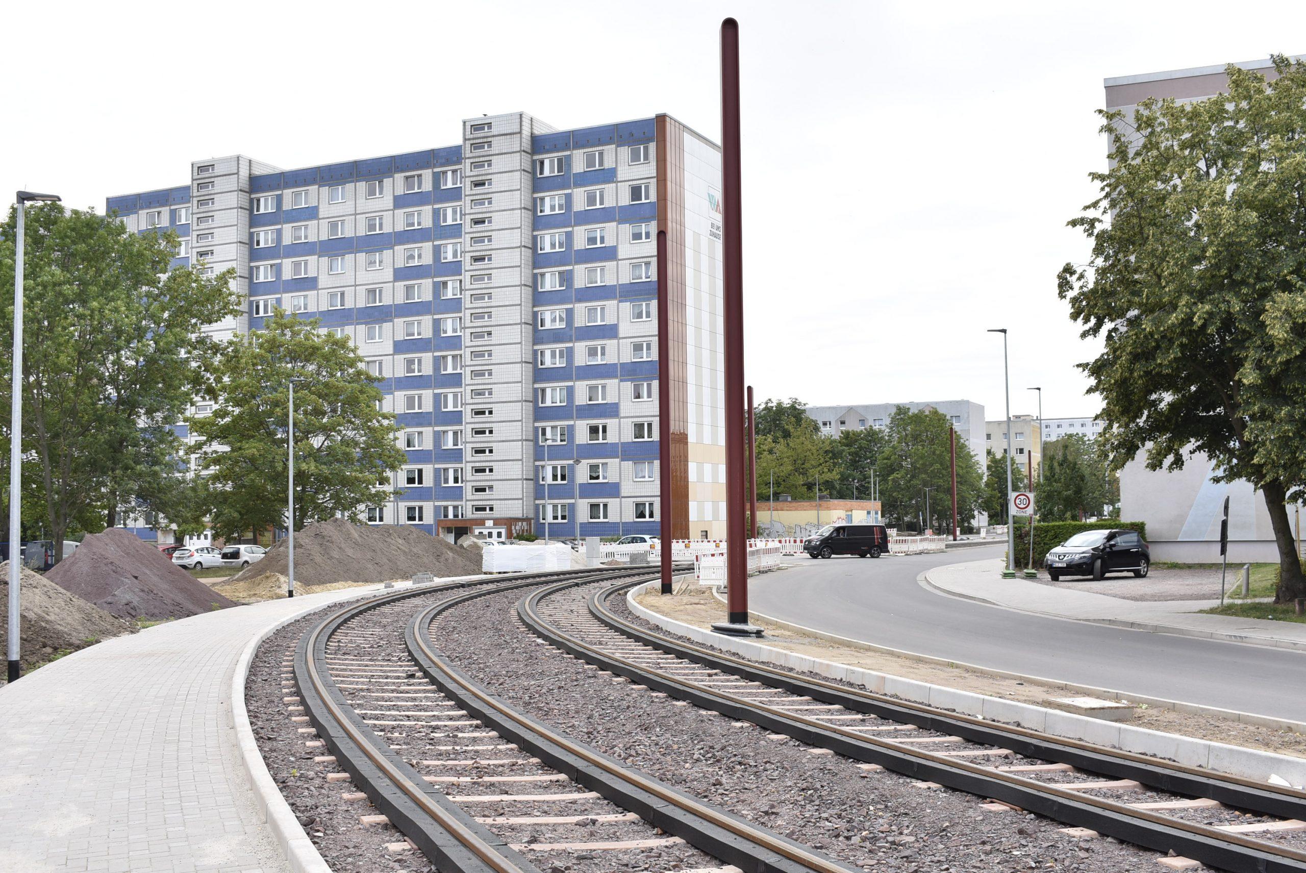Gleiskurve im Kannenstieg.
