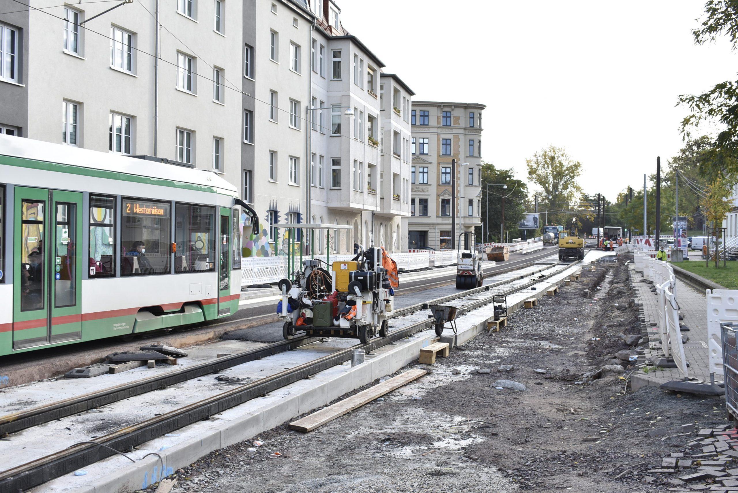 Gleisbau in der Schönebecker Str.