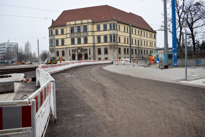 Neugestaltung des Damaschkeplatzes (Stand: März 2021)