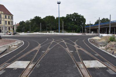 Neues Gleiskreuz Damaschkeplatz