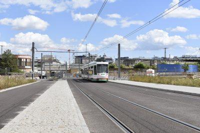 Straßenbahn Richtung Hauptbahnhof