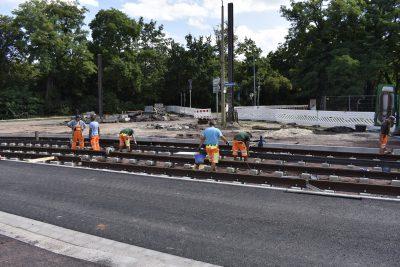 Gleisbauarbeiten im Adelheidring